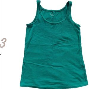 3 for $25 Teal Ribbed Tank   Size 14/16